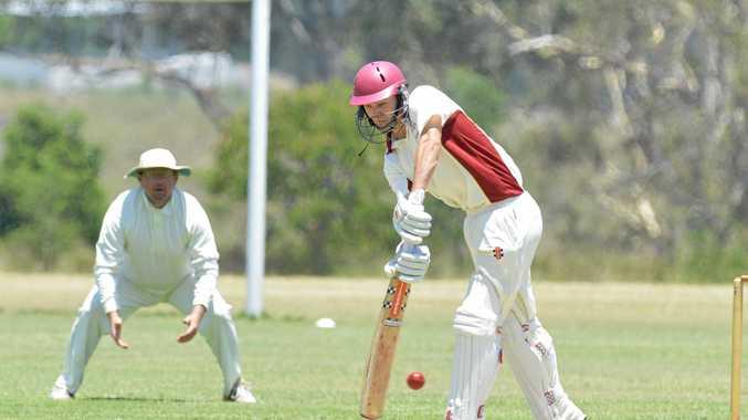 Centrals opening batsman Luke Barrett.