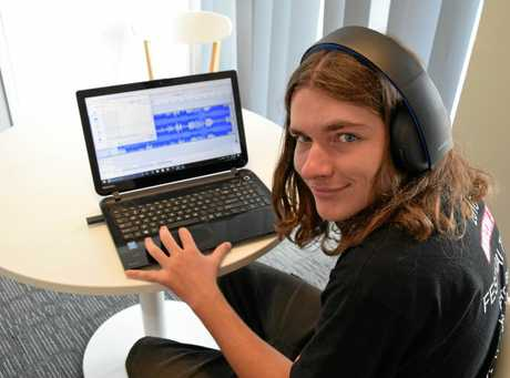 Maryborough's Jade Wood may be intellectually impaired and legally blind, but that doesn't stop him from creating audio music segments for a community radio station.