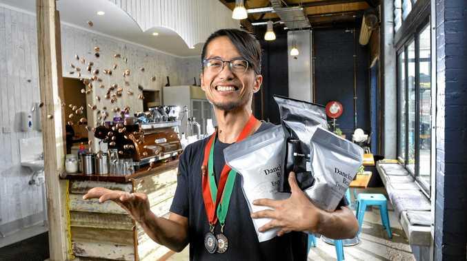 Naoyuki Kiutajima from Dancing Bean Espresso has won multiple awards for his coffee beans