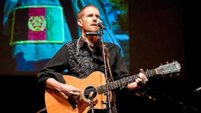 TRUE STORY: The Dust of Uruzgan features Fred Smith performing a collection of songs in Ipswich.