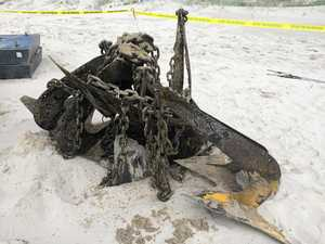15 huge rusty anchors still missing off Lennox beach
