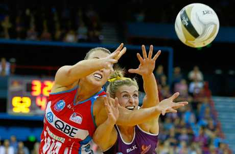 Gabi Simpson in action last year for the championship-winning Firebirds.