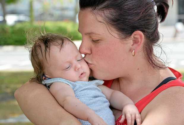 Rebekka Murray and her son Jackson.