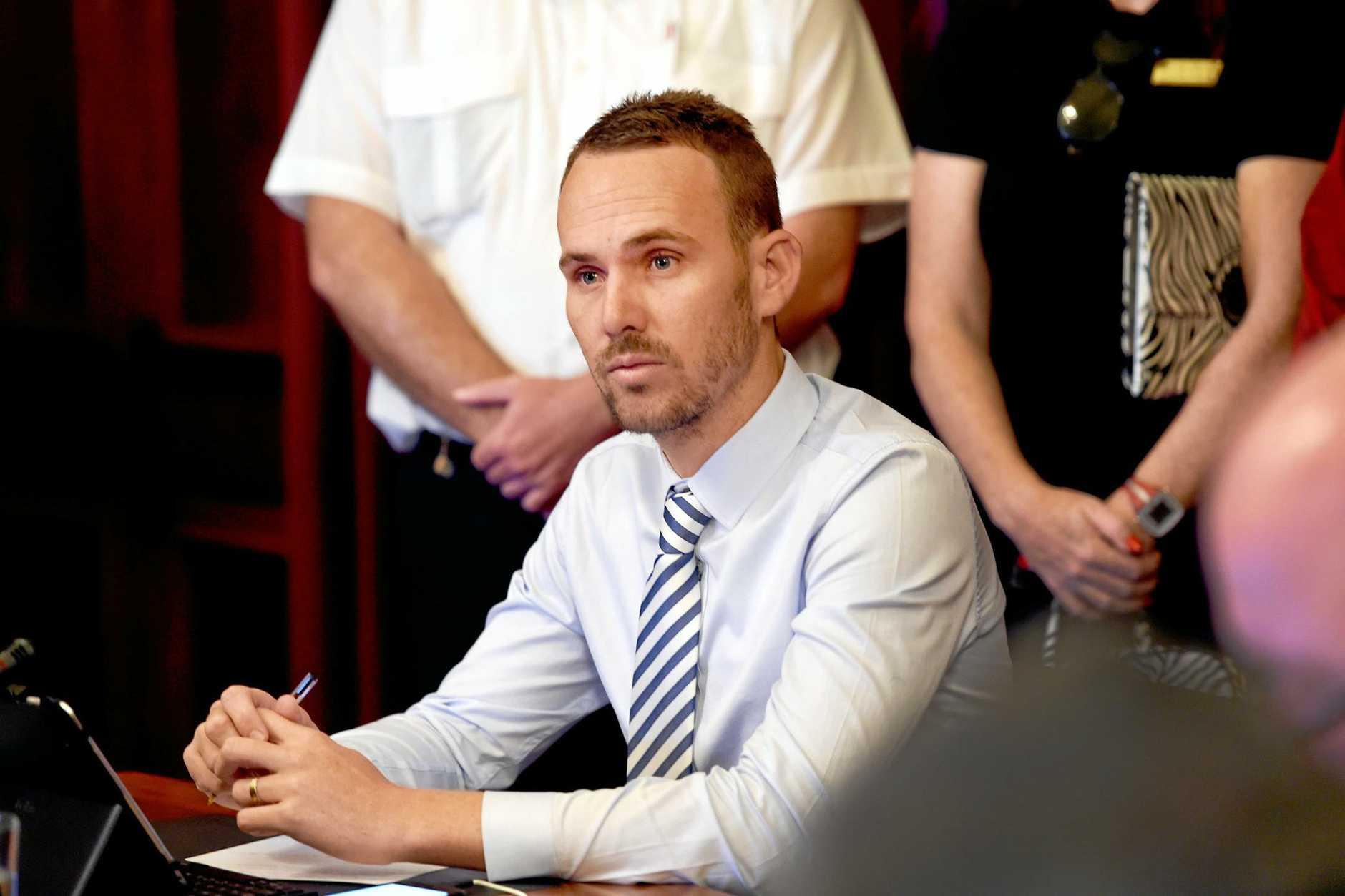 Fraser Coast Regional Council meeting, Maryborough Chambers - Councillor Daniel Sanderson.