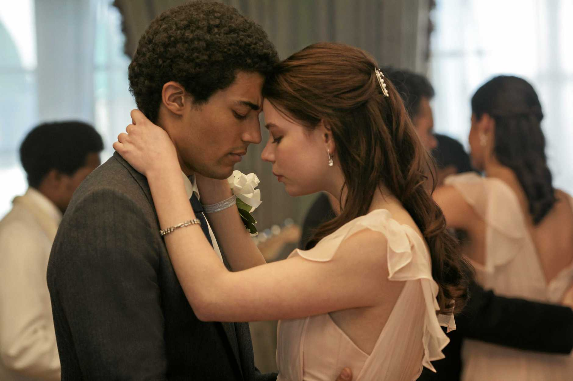 Australian actor Devon Terrell portrays a young Barack Obama in the Netflix original movie Barry. He is pictured here with Anya Taylor-Joy.