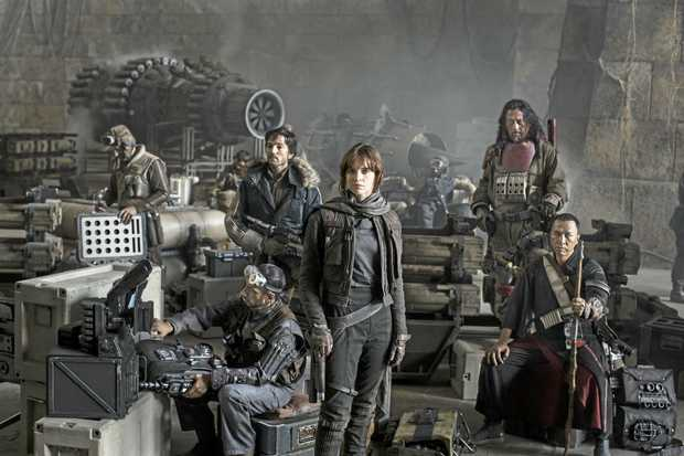 Riz Ahmed, Diego Luna, Felicity Jones, Jiang Wen and Donnie Yen star in the movie Rogue One: A Star Wars Story.