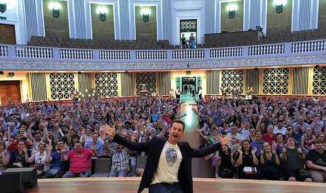 Matthew Reilly on a book tour in Brisbane.
