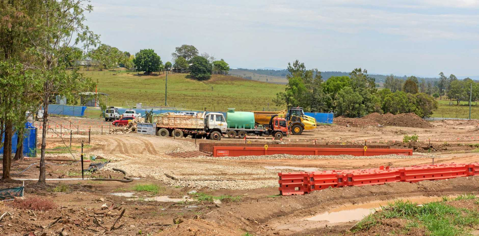 Construction works at the site of the proposed Clarence Valley Council superdepot.