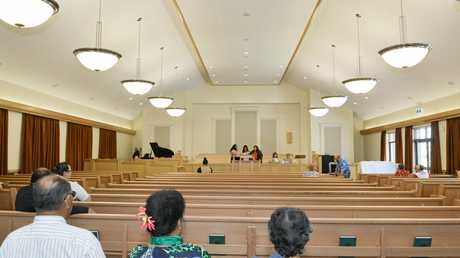 The 1200-seat chapel inside the new Mormon church.