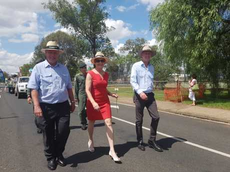 Toowoomba Regional Council Cr Chris Tait, Senator for Queensland Pauline Hanson and Member for Condamine Pat Weir.