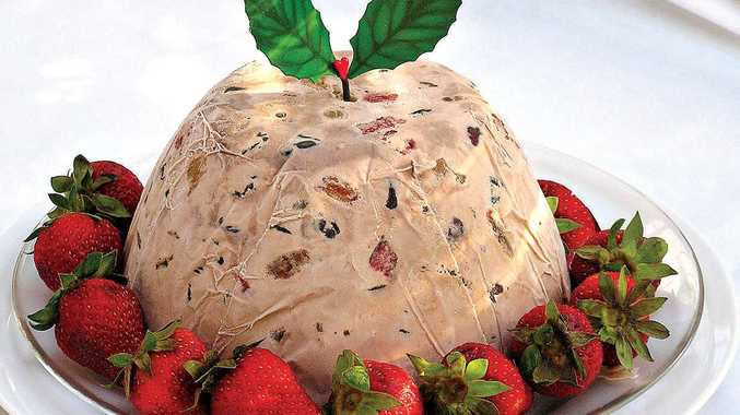 Make a crowd-pleasing frozen Christmas pudding this year using bought ice cream.