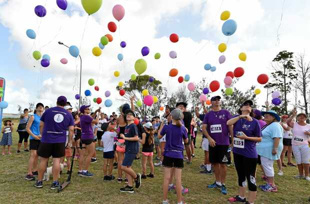 Cooper's Walk - hundreds of walkers release balloons on what would have been Cooper's eighth birthday.