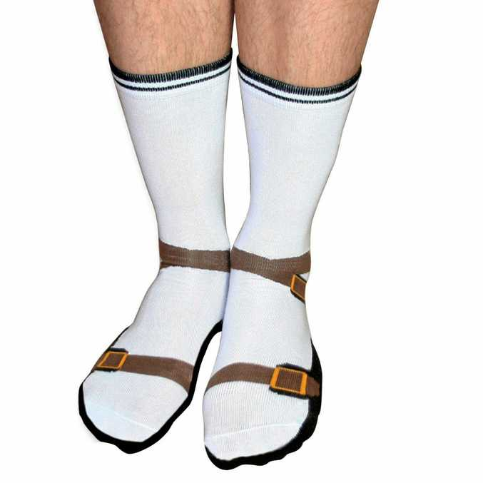 Sandal socks - one of the most hideous creations ever to disgrace God's green earth.