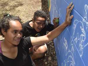 Community mural in Vanity Street Park