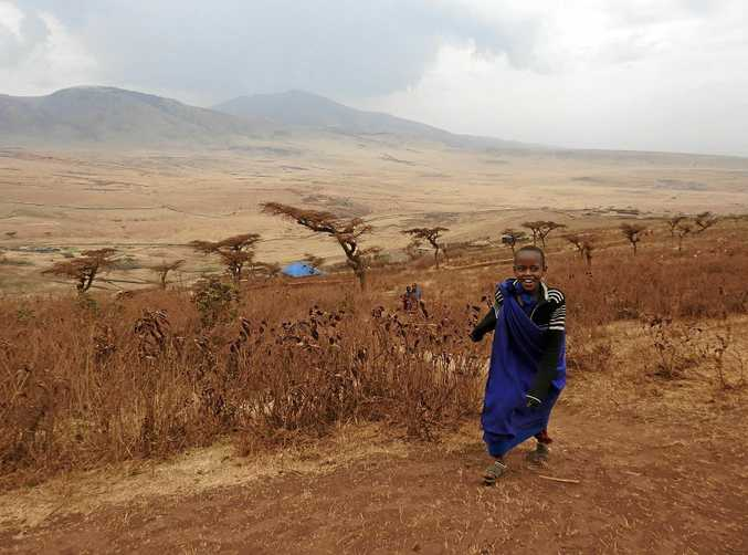 A child at play in Maasai country.