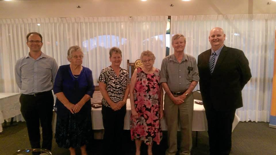 MAKING THE DIFFERENCE: Lifeline Darling Downs and South West Queensland vice- chairman Andrew Taylor, volunteers Joyce Ballon, Kathy Van der Meulen, Faye and Sam Nixon, and regional chairman Shane MacDonald.