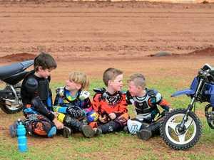 Junior motocycle riders take to speedway