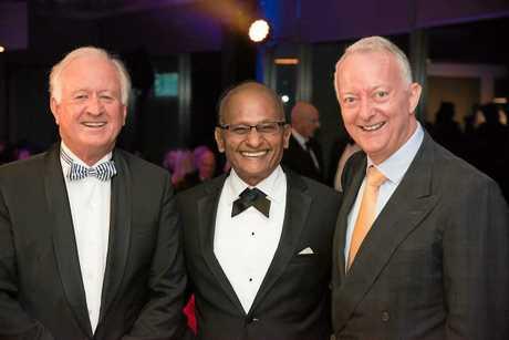LOOKING GOOD: Brian Flannery, Maha Sinnathamby, Geoff Grady at the ball.