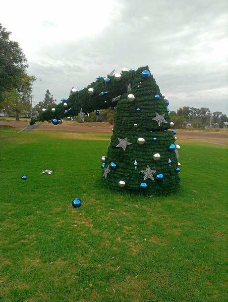 Tara's first ever Christmas tree was vandalised at the weekend but has been repaired.
