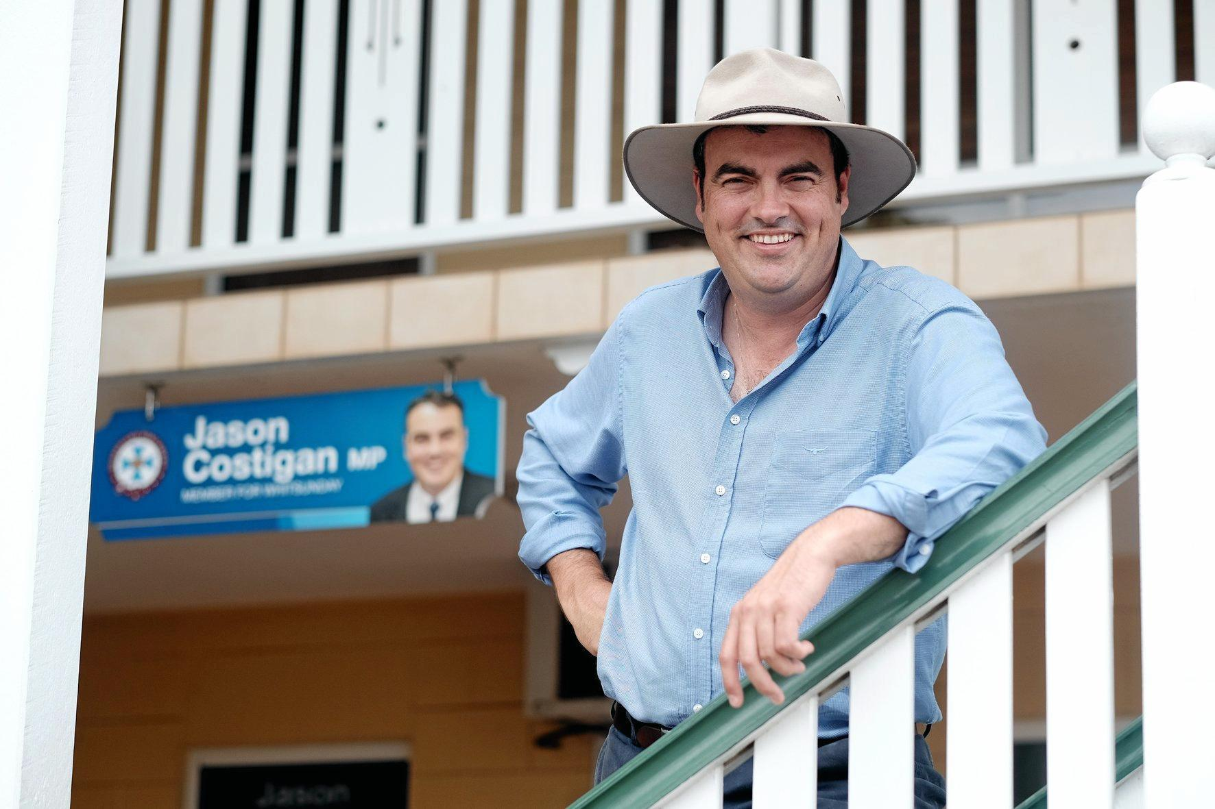 Whitsunday MP Jason Costigan did not appear happy at the spread of Adani projects.
