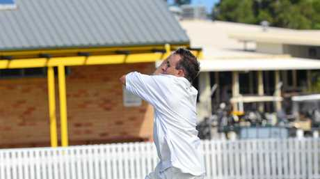 United bowler Nathan Williams during the LCCA match between Wanderers and United at Yamba Oval on Saturday, 10th December, 2016.