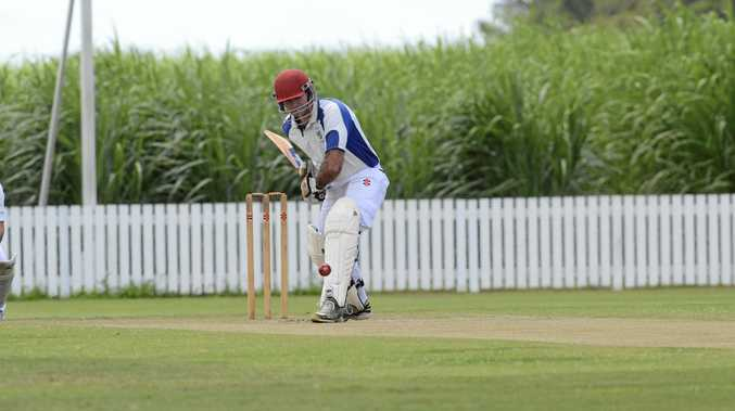 AGONISING: Geoff Simmons almost made his second century in as many years for Harwood.