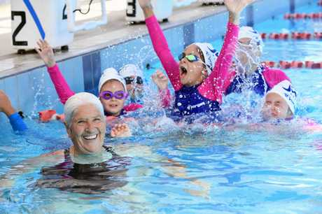 Still making a splash ... Swimming legend Dawn Fraser. Photo: Delly Carr