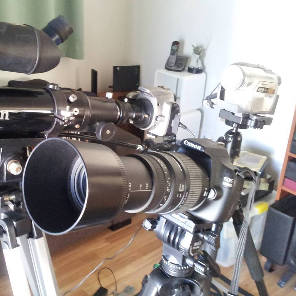 Rod Bishop has assembled an array of impressive equipment to monitor the night skies around Toowoomba.