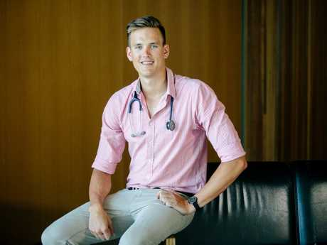 John Maunder graduated from UQ last night with a Bachelor of Medicine and Bachelor of Surgery.
