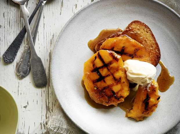Grilled Mango with Caramelised Brioche