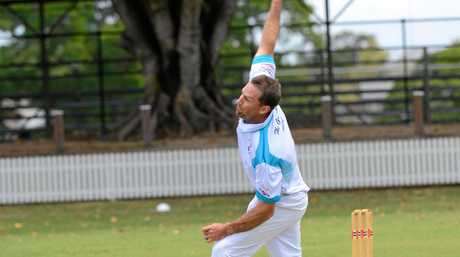 Coutts bowler Adam Elliott during the CRCA match at Ellem Oval between Tucabia and Coutts on Saturday, 10th December, 2016.