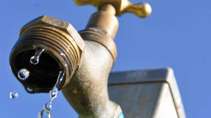 LEAKY TAP: The tap at Leslie Park. Photo Emma Channon/Warwick Daily News