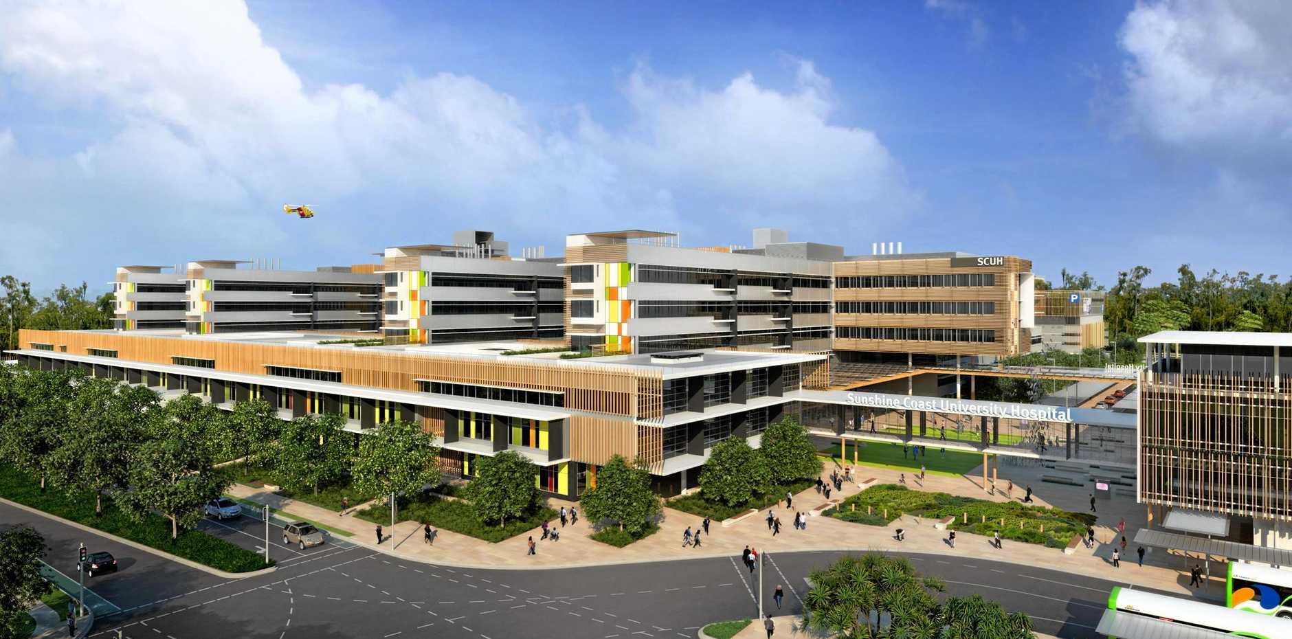 Sunshine Coast University Hospital east view.