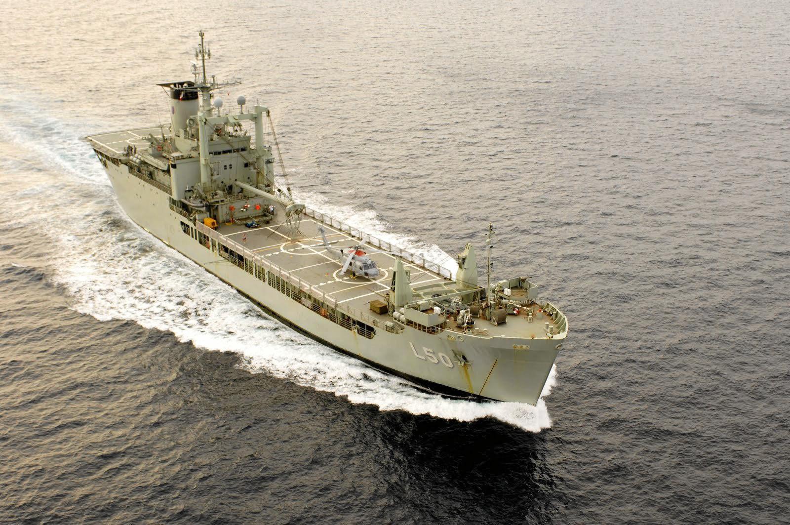 HMAS Tobruk at sea. Photo: contributed