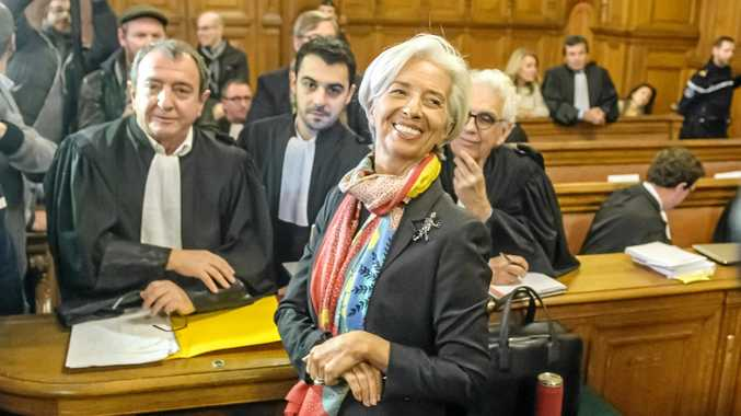 International Monetary Fund managing director and former Economy Minister Christine Lagarde appears in court at the Palais de Justice, in Paris, France.
