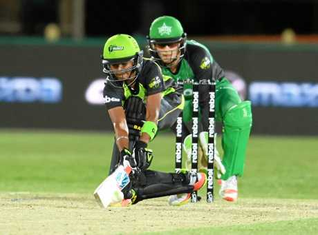 Harmanpreet Kaur for Sydney Thunder during the Women's Big Bash League cricket match between The Sydney Thunder and the Melbourne Stars. Photo: AAP