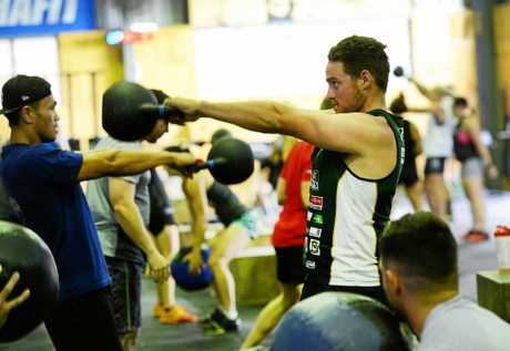 Sam Martin training at CrossFit Western Front at North Ipswich.