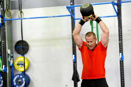 Jets co-coach Ben Walker works up a sweat training at CrossFit Western Front.