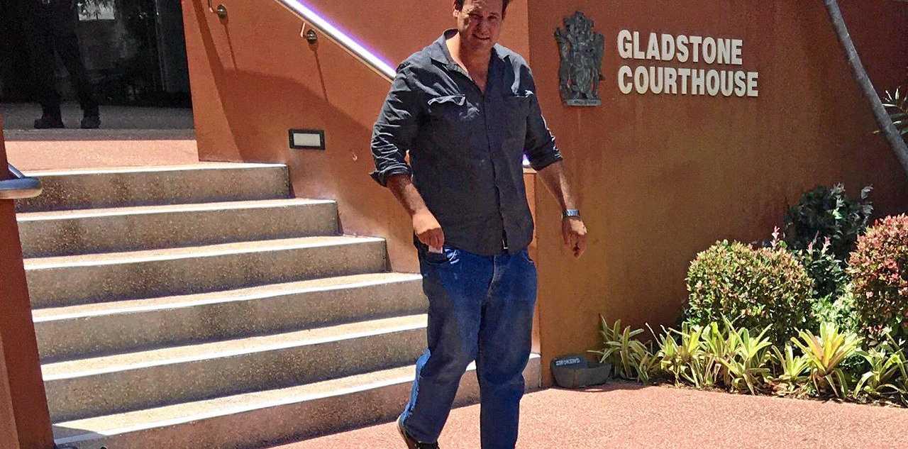 Grahame Paul Daniel Dudarko leaves Gladstone Courthouse.