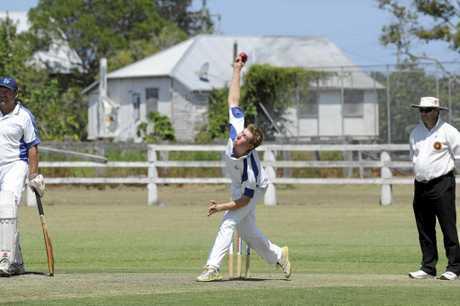 Hawood bowler Ben McMahon during a CRCA Premier League clash late last season.