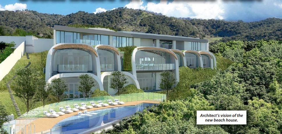A $14 million eco home being built overlooking Sunshine Beach.