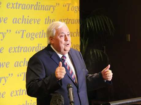 DOWN SIZING: Clive Palmer has shed plenty and he's hoping to inspire others to kick the kilos too.