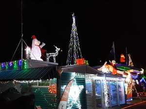 Fly through Christmas lights at Cotton Tree