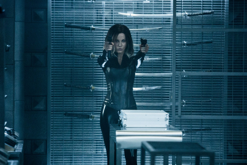 Kate Beckinsale in a scene from the movie Underworld: Blood Wars.