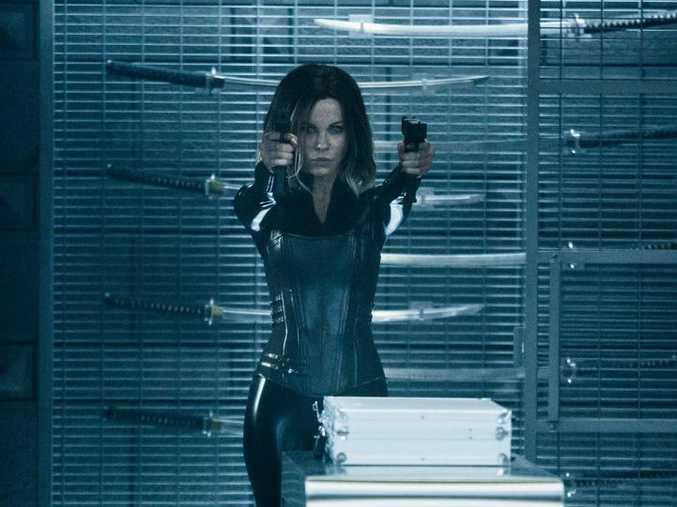 Kate Beckinsale in a scene from the movie Underworld: Blood Wars.