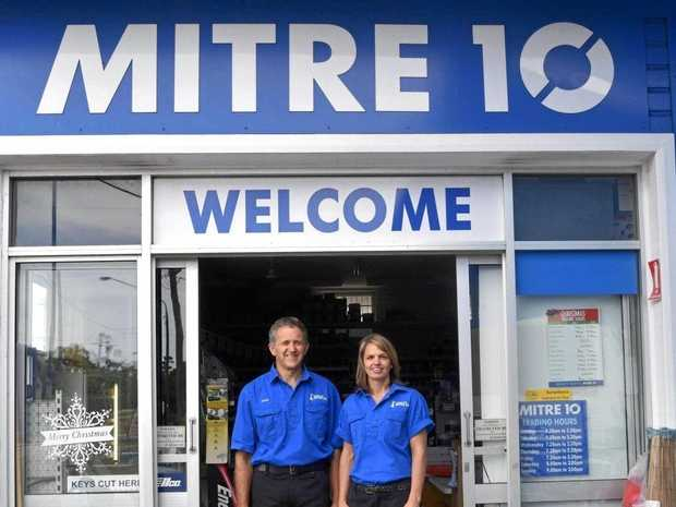 WHALE SPONSORS: James and Lisa from Byron Bay Mitre 10.