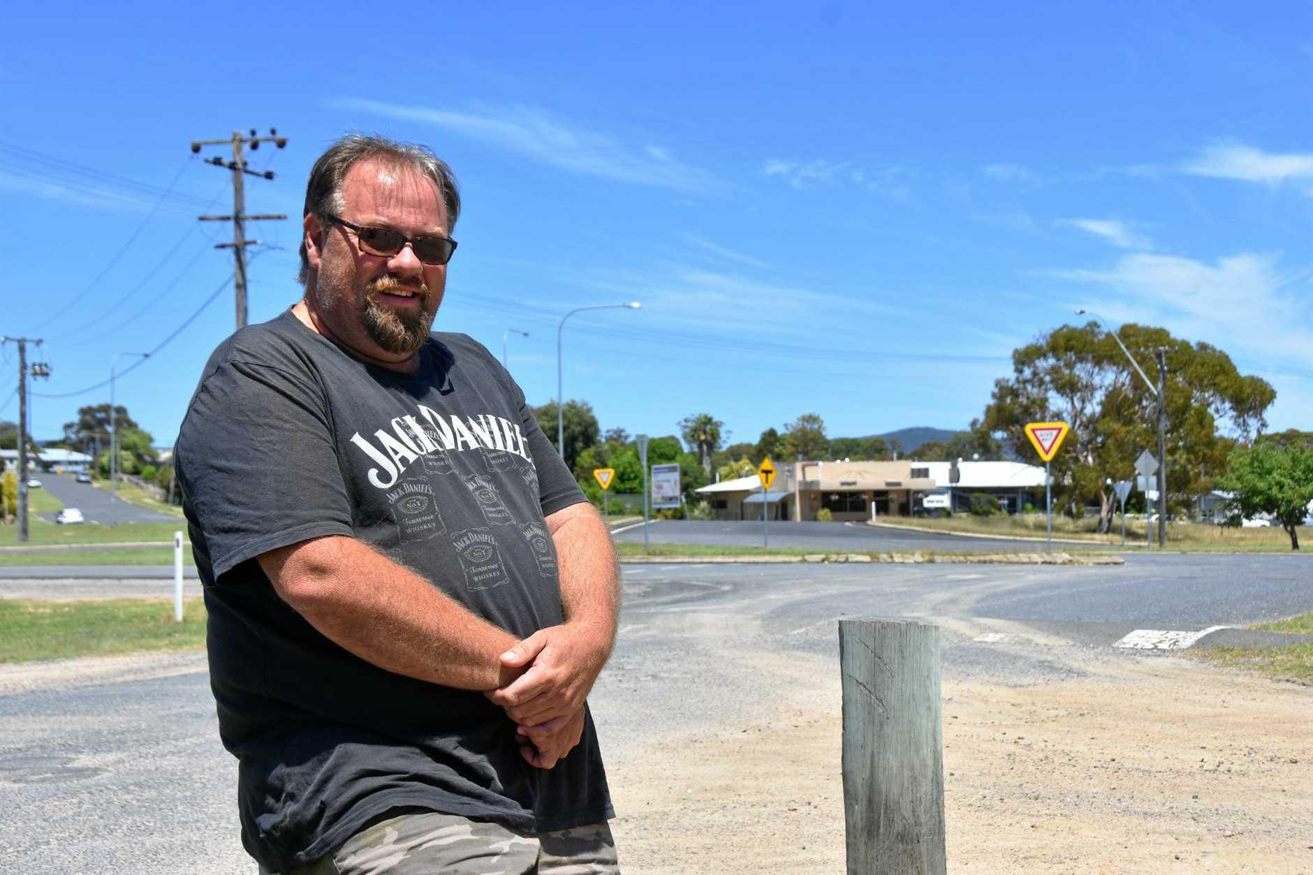 BIG FISH: James Small hopes to revive Wallangarra with his barramundi farm.