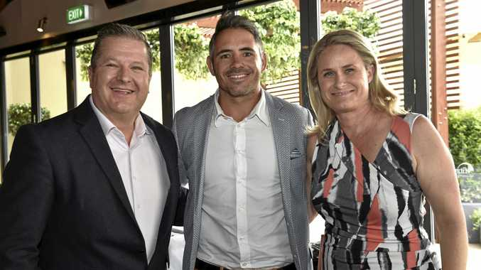 Helping to raise some money are (from left) Lee Faulkner of 4GR, Corey Parker and Toowoomba Hospital Foundation CEO Alison Kennedy.
