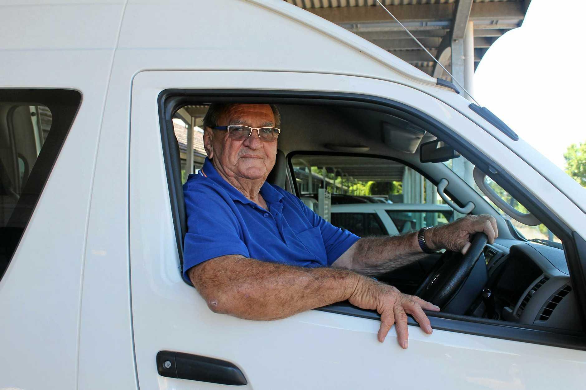 BIG HEART: Westbrook man Ian Schneider volunteers at the Cancer Council Queensland's Volunteer Transport Service on Wednesdays.