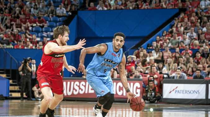Corey Webster (right) has been put on the injury list by the NZ Breakers.